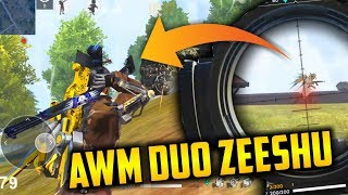 AWM Duo Match With Zeeshu Pro Gameplay - Garena Free Fire- Total Gaming