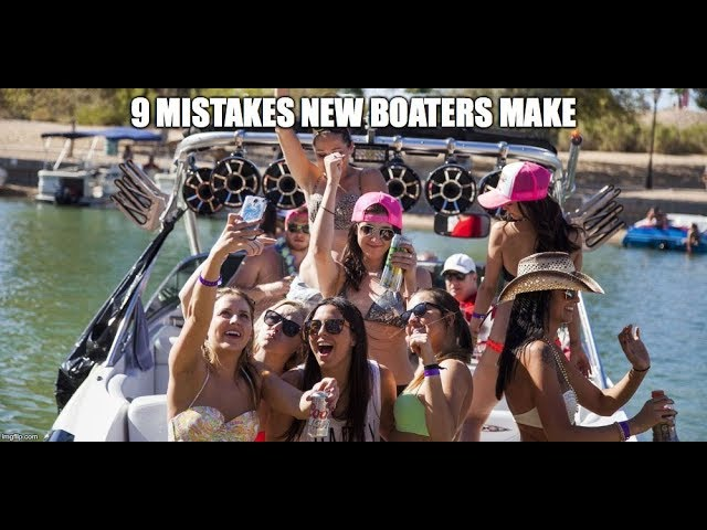 9 mistakes new boaters make