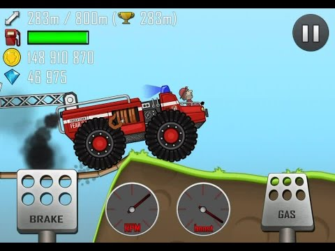 Машинки. Игра катаемся на пожарной машинке по сельской местности игра для детей