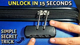 How To Unlock Forgotten Combination Lock Password | Open Any Suitcase Luggage Bag Password Lock