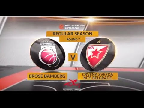EuroLeague Highlights RS Round 7: Brose Bamberg 78-79 Crvena Zvezda mts Belgrade