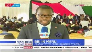 BBI in Meru : Consultative forum ongoing at KEMU,  stakeholders presenting views on BBI