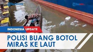 Viral Video Polisi Buang Botol Plastik Bekas Miras di Laut saat Razia, Kapolres Mimika Minta Maaf
