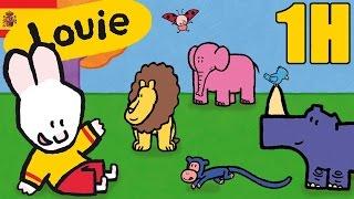 1 hora de Louie : Animales - Compilacion | Dibujos animados para niños
