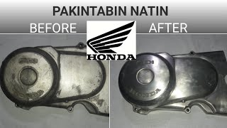 Polishing Engine Cover using only Sand Paper