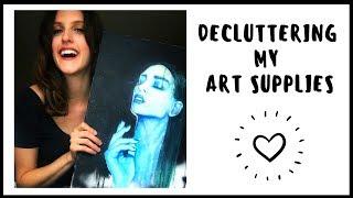 DECLUTTERING ART SUPPLIES