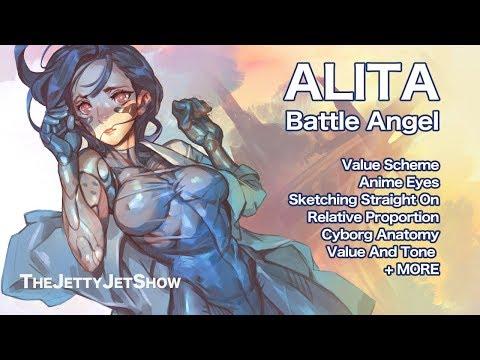 ALITA Battle Angel / CYBORG Girl / Laying Pose / CLIPSTUDIO