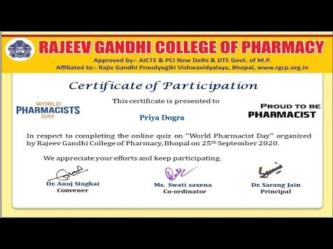 Online Pharma Quiz Competition on World Pharmacist Day   Free ...