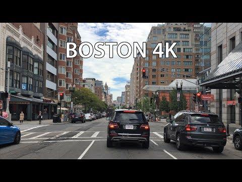 Drive 4K - Boston Back Bay - USA