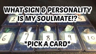 🔮WHAT SIGN AND PERSONALITY IS MY SOULMATE?! *PICK A CARD* IN DEPTH READING ABOUT YOUR SOULMATE!