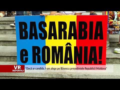 """""""Dacă ar candida, l-am alege pe Băsescu președintele Republicii Moldova"""""""
