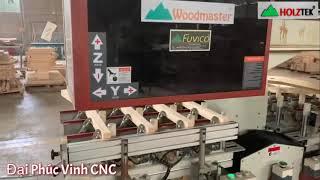 Mộng âm 4 đầu Woodmaster   Máy làm mộng âm trong nhà máy sản xuất hàng xuất khẩu WM-1500-CNC