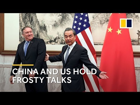 """Download China's Foreign Minister Wang Yi urges US counterpart Mike Pompeo to stop """"wrong actions and words"""" HD Mp4 3GP Video and MP3"""