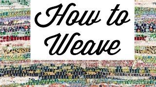 Rag Weaving - Rigid Heddle Loom- Learn To Weave- Quilting Scraps