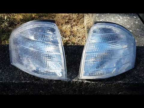 HOW TO INSTALL EBAY CLEAR CORNER LIGHTS ON A MERCEDES W202 C280 C240 C230 C43 C36