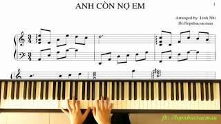 Anh Còn Nợ Em (Rhythm: Boston, Tone: A minor)   Piano Tutorial   Linh Nhi