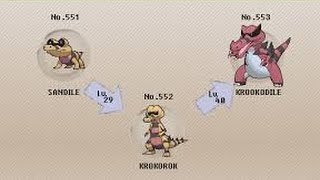 Sandile  - (Pokémon) - POKEMON SUN & MOON EVOLVING SANDILE TO KROOKODILE