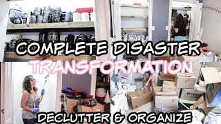 EXTREME! Complete Disaster Clean Declutter & Organize #WithMe 2020 Hoarder Room Transformation