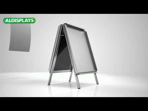 Kundenstopper (Standard) • Aufbau- und Informationsvideo • ALDISPLAYS® GmbH