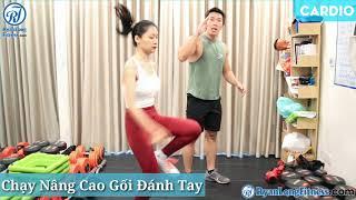 Chạy Nâng Cao Gối Đánh Tay   Nữ   Junie HLV Ryan Long Fitness