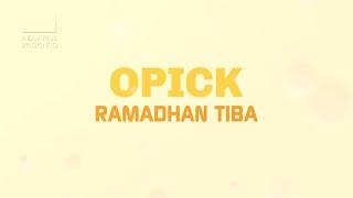 Lirik Lagu dan Chord (Kunci) Gitar Ramadhan Tiba - Opick