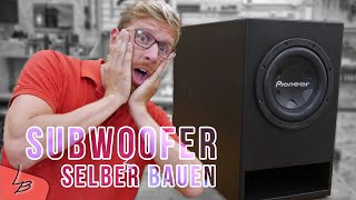 #1 Krasser XXL Subwoofer selbstbau | Der reißt das Haus ab! | Lets Bastel
