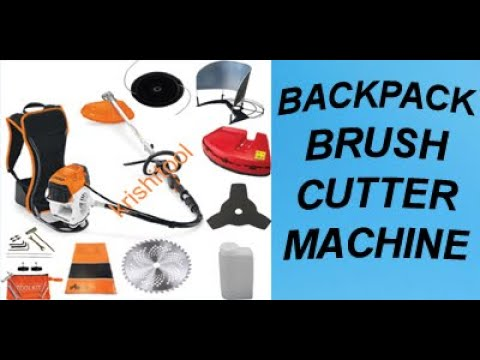 Brush Cutter Machine : Buy Backpack 4 stroke Brush Cutter Online at Krishitool.com