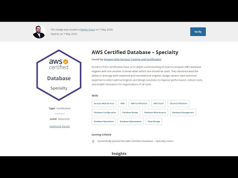 I took the AWS Certified DataBase - Specialty DBS-C01 certification ...