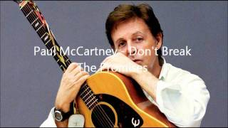 Don't Break The Promises - Paul McCartney (1997)