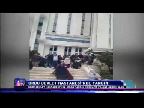 ORDU DEVLET HASTANESİ'NDE YANGIN