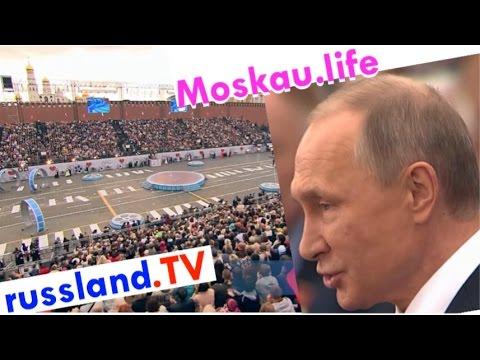 Moskau: Stadtfest mit Putin [Video]