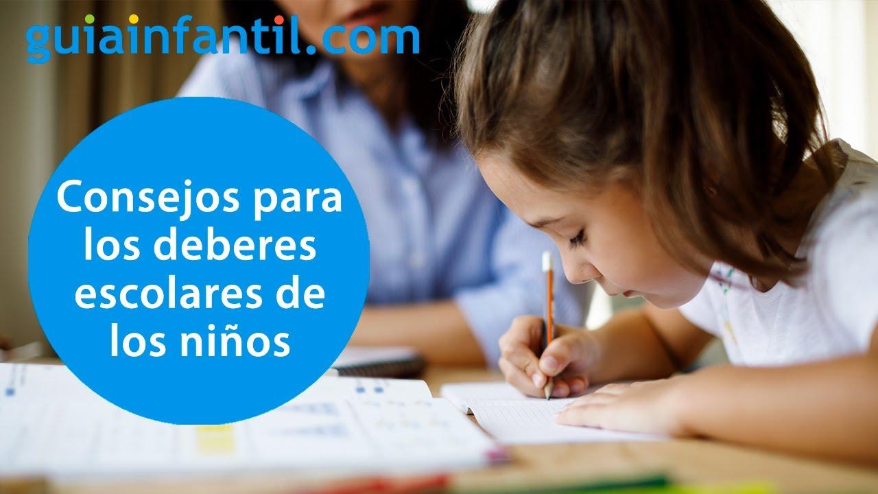 Tips para que los deberes de los niños no sean una pesadilla | Hablamos sobre las tareas escolares