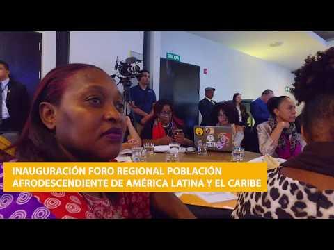 Inauguración foro: Avanzando por los derechos de las personas afrodescendientes