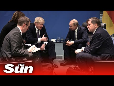 Boris Johnson joins leaders from around the world to discuss peace in Libya