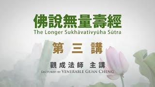 [Mandarin] 國語普通話 - 佛說無量壽經 - 第三講 - 觀成法師主講