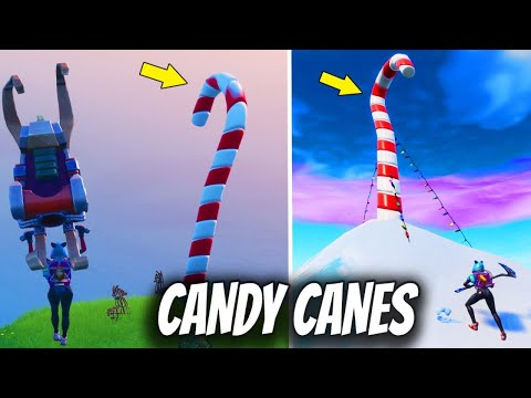 Visit Giant Candy Cane All Locations 14 Days Of Fortnite