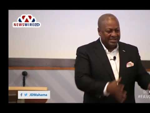 'Seek the favor of God and reap 100 folds' - Former Pres. Mahama preaches. (25-09-18)