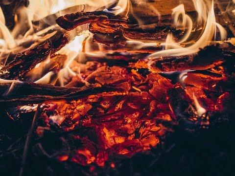 Ночной костер/Звук костра, Сверчки. Night Campfire