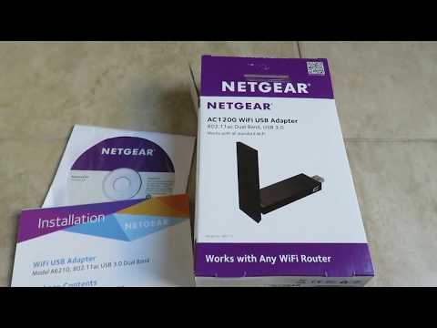 Unboxing Review of Netgear AC1200 USB Adapter Dual Band USB 3.0