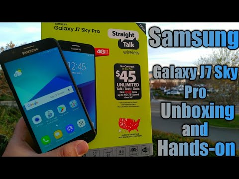 Samsung Galaxy J7 Sky Pro Unboxing and Hands-on