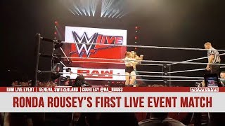Ronda Rousey In Her First WWE Live Event Match In Switzerland (VIDEO) - Video Youtube