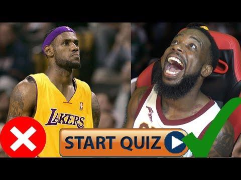 Are You A Lebron James Bandwagon Test/Quiz FAIL OR PASS Part 2! HARDEST LEBRON JAMES QUIZ EVER!