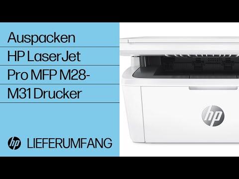 Auspacken eines HP LaserJet Pro MFP M28-M31 Druckers