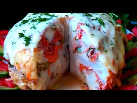 Cauliflower with minced meat Вкусный ужин  Оригинально и полезно