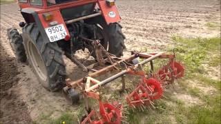 Механизированная посадка картофиля ВТЗ Т30 А-80