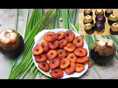 Toddy Palm Fruit Garelu amazedly  – Asian palmyra palm Fruit Juice Recipe – Ripe Palm Fruit Dish