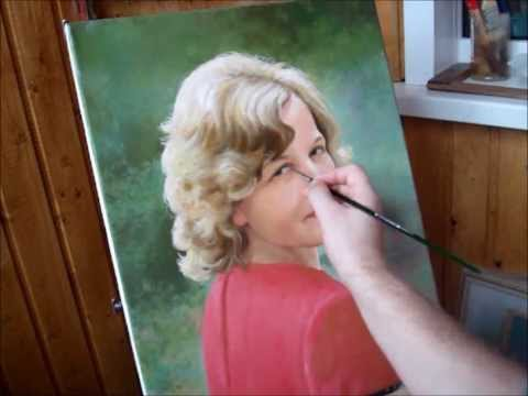 beautiful oil painting portrait demo by yakov dedyk