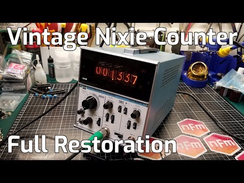 Nixie Tube VP-4541A Frequency Counter Restoration