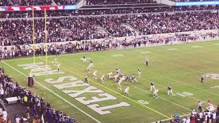 Final play and fan reaction to A&M vs LSU 11/24/18