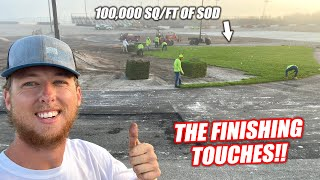 Building the Freedom Factory a GIANT Burnout/Drift Pad Part 5!!! (SO MUCH GRASS)